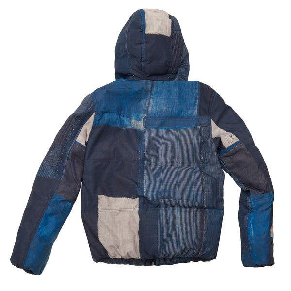 RARE Lee Patchwork Print Down Jacket