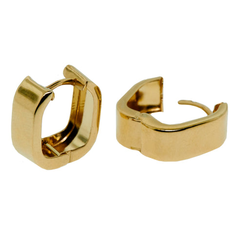 14K Gold Square Hoop Earrings