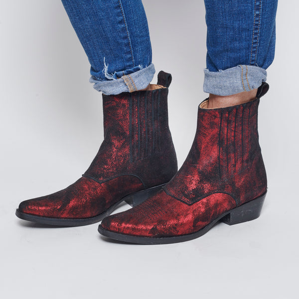 Raben Saloner Red Booties