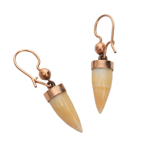 Victorian Gold Tooth Earrings