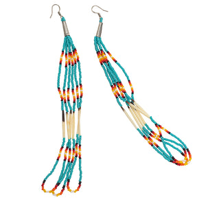 Native American Beaded Shoulder-Dusters