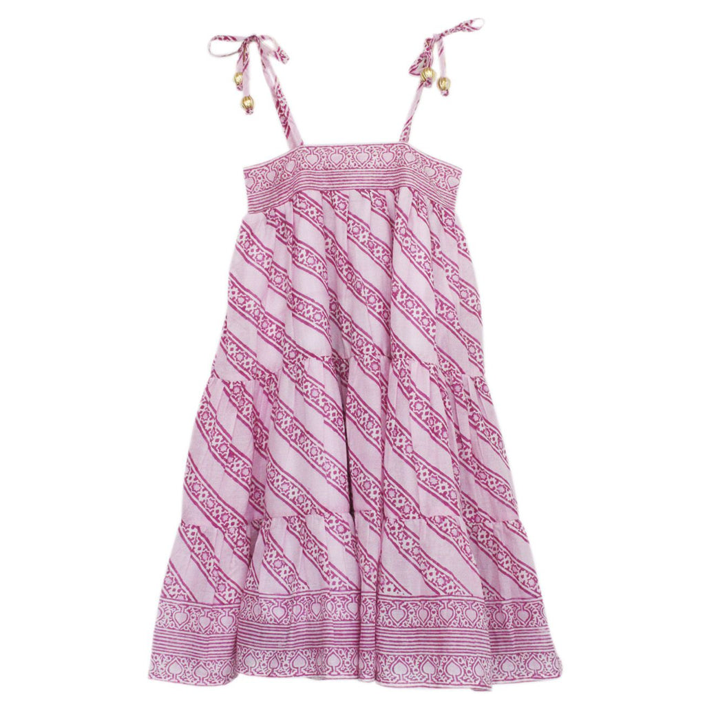 ALICIA BELL - LITTLE BELL ALLISON DRESS LINED - PINK 12m-10y