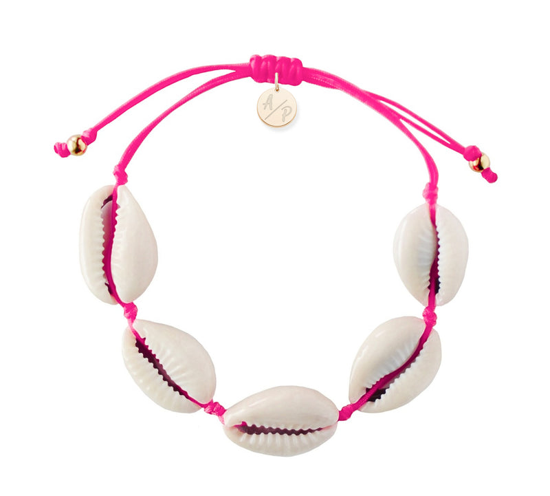 Natural Shell Bracelet - Hot Pink