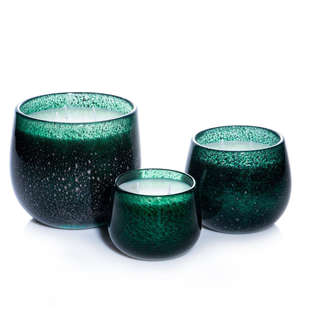 Large 40oz Ballon Candle Holiday Dark Green Bubble - Gui de Noel
