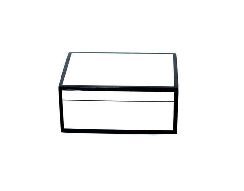 Medium White Box with Black Trim