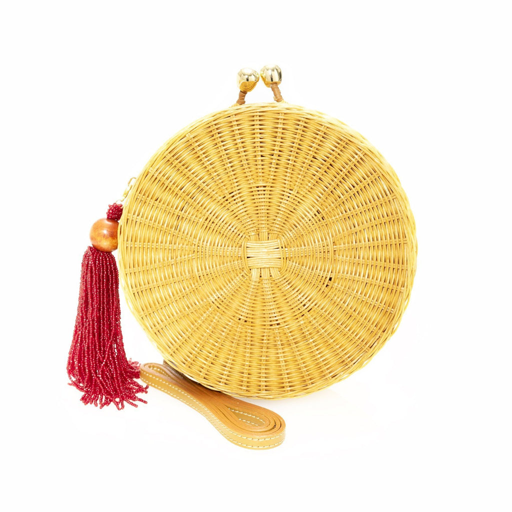 Hillary Wicker Circle Bag