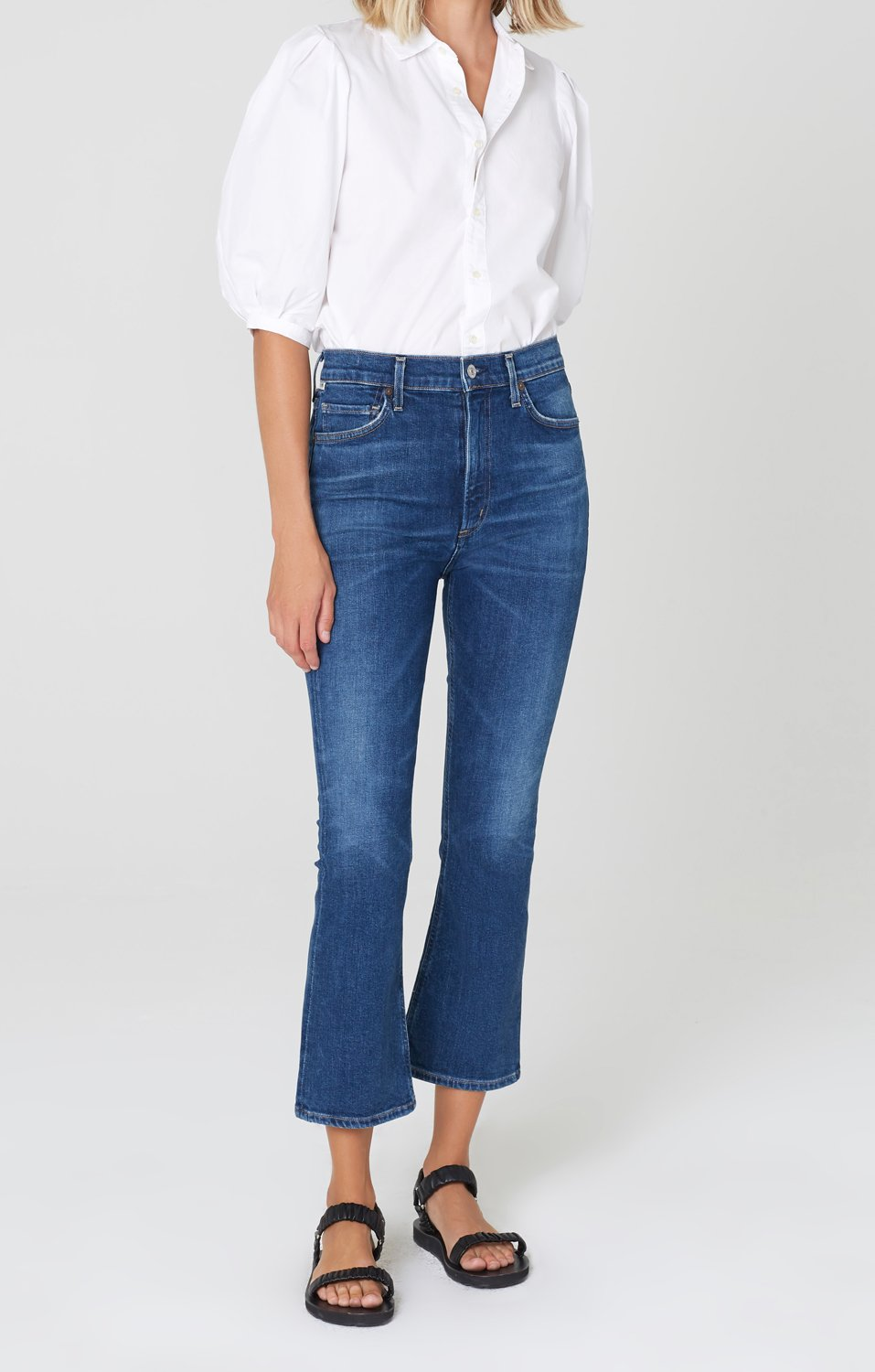 CITIZENS OF HUMANITY - DEMY CROPPED FLARE DENIM - CLEARWATER