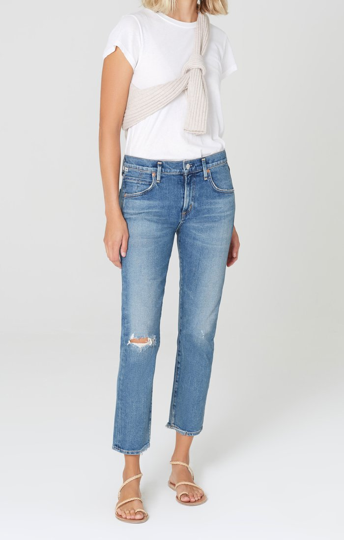 CITIZENS OF HUMANITY - ELSA MID-RISE SLIM FIT CROP - CADENCE