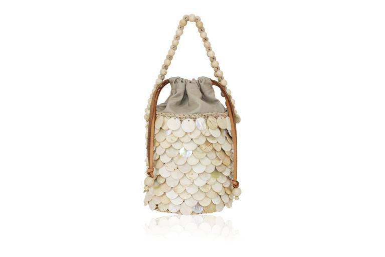 """Fish Scale"" Mini Bucket Bag - Aranaz"