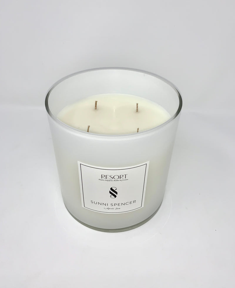 "Sunni Spencer ""Resort"" Grand Candle - White Gloss"
