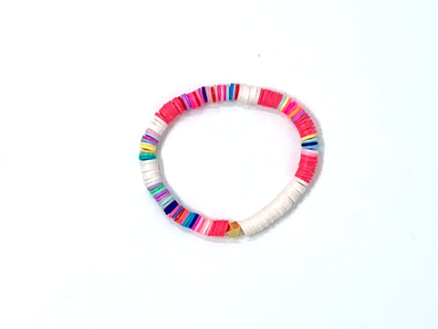 Mini Shells Bracelet 14K Gold / Rainbow