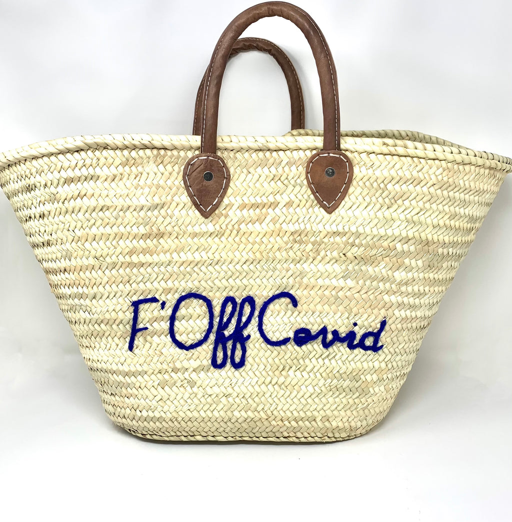 """F' Off Covid"" Bag  - Sunni Spencer Exclusive by Poolside"
