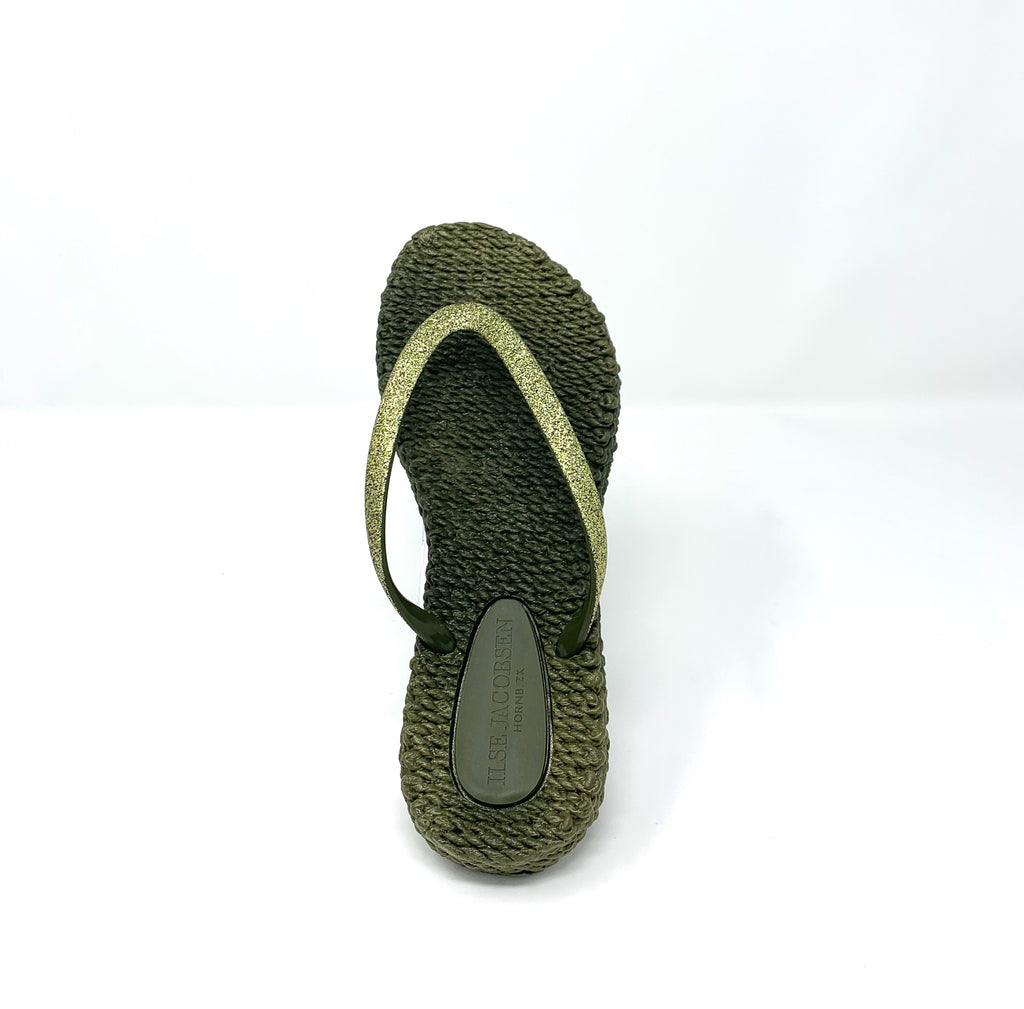 Cheerful Flip Flops - Army Green