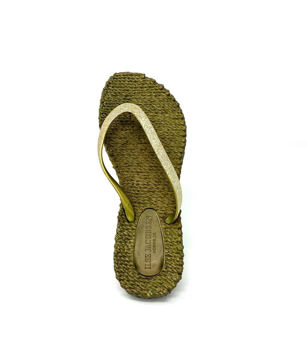 Cheerful Flip Flops - Gold (green tint)