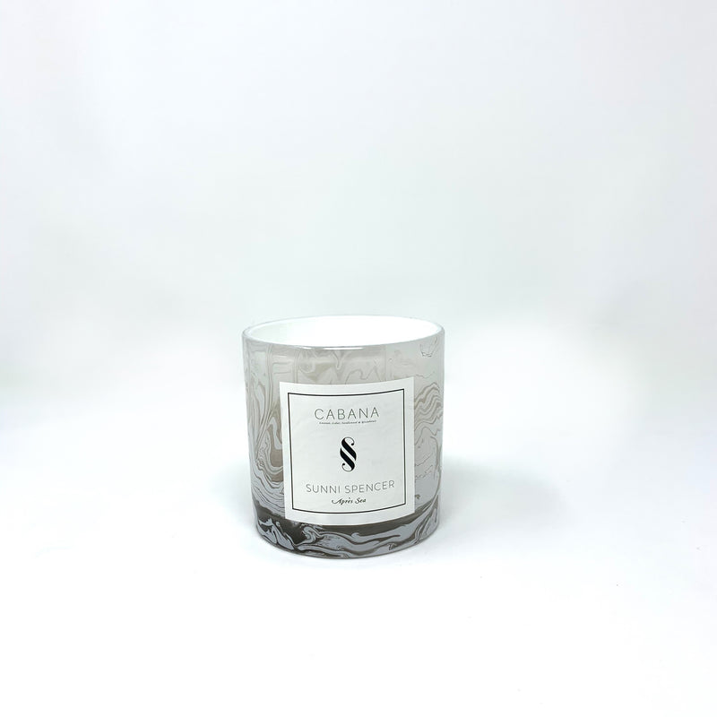 "Sunni Spencer Candle - ""Cabana"" 2 Wick Marble"