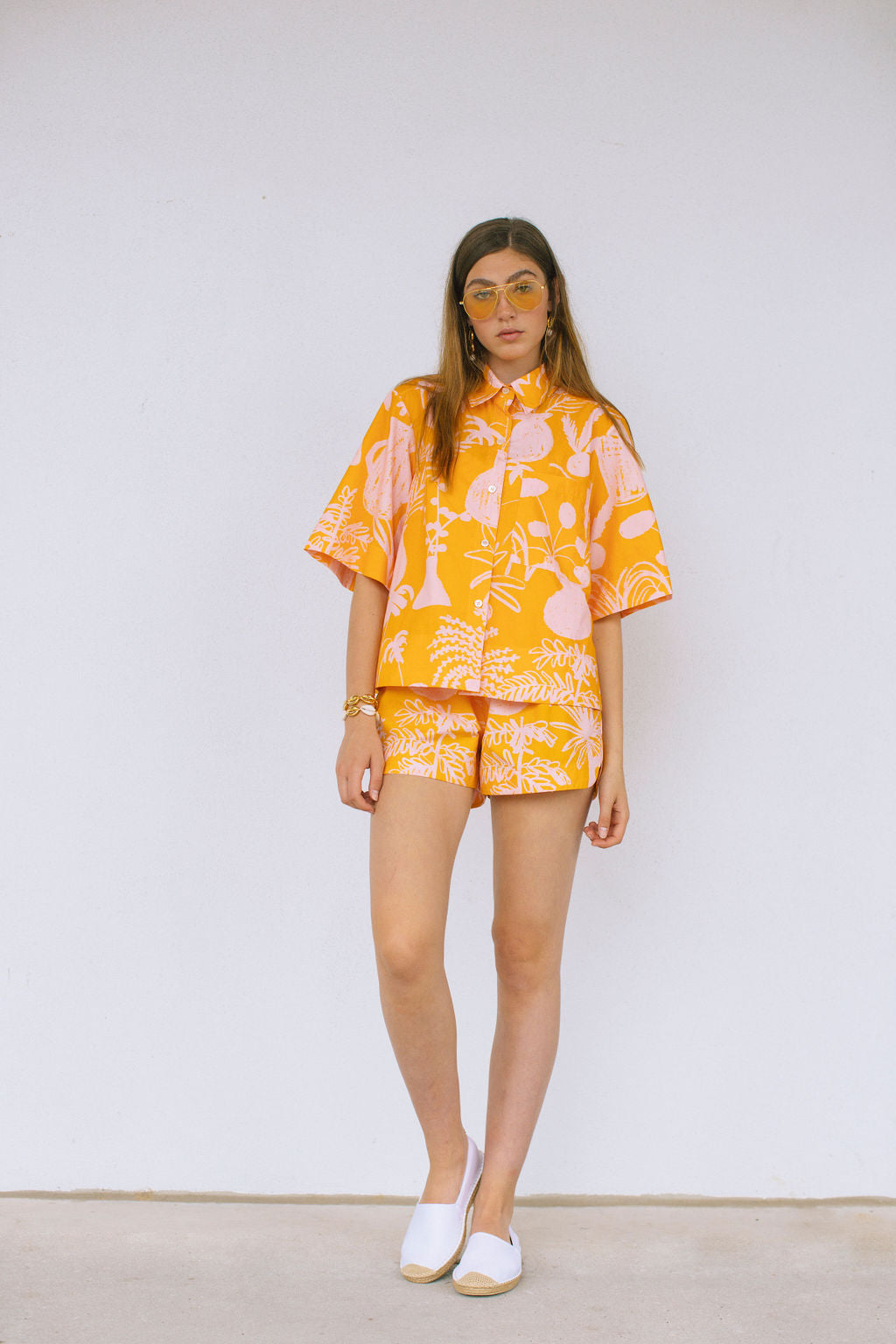 WHIT- Beau Pink and Yellow Button Down