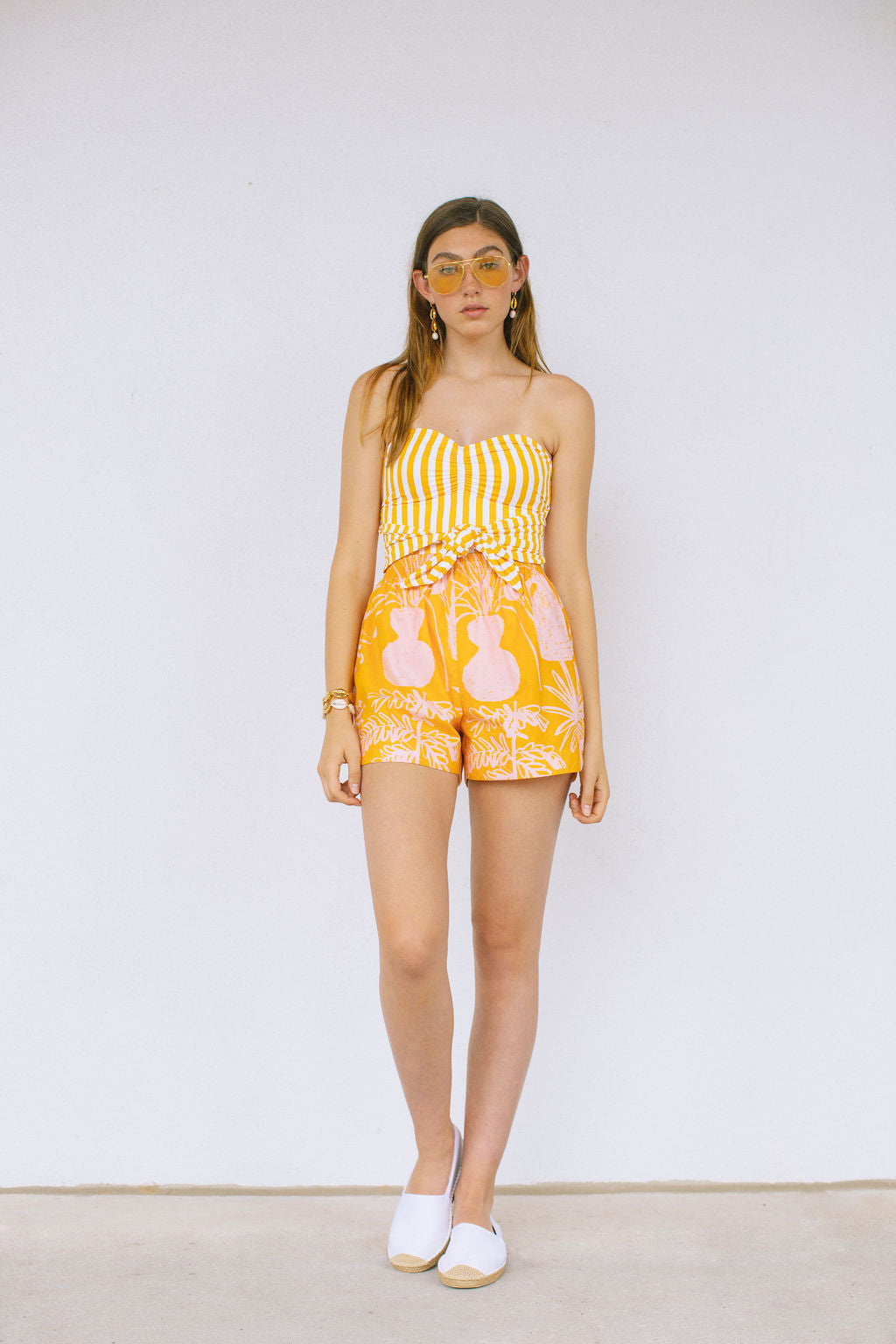 WHIT- Rocky Yellow and Pink Shorts