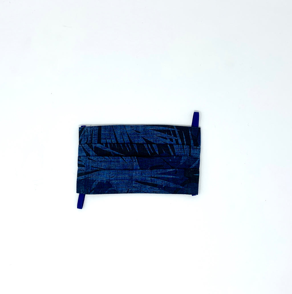 Indigo Palm Face Mask- JADEtribe - Blue & Black