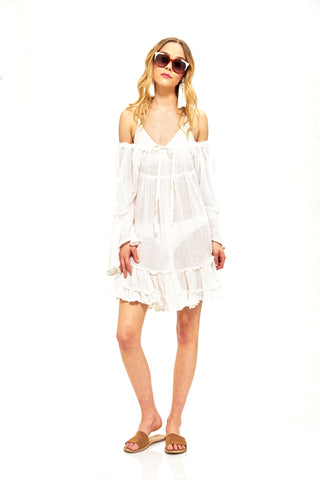 """Bety"" Ruffled Mini Dress"