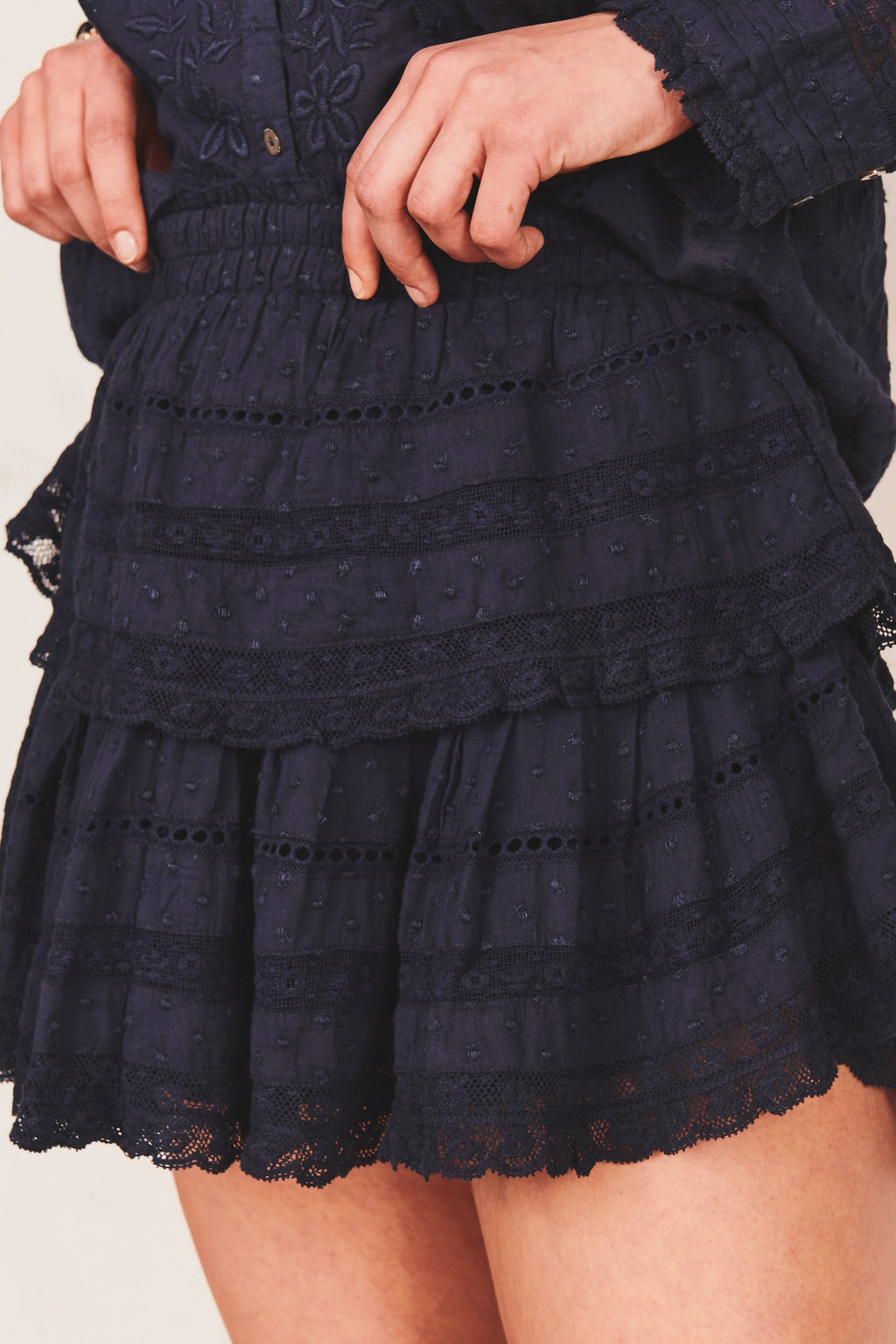Love Shack Fancy Ruffle Mini Skirt