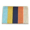 Ink + Alloy multi color stripe beaded clutch