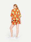 WHIT NY Rocky Shirt in Hermosa Floral Red/Yellow