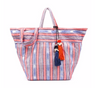 White Washed Wicker Tote