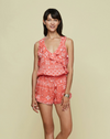 """Josie"" Mini Dress - Pink Tropical - Poupette St Barth"