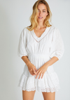 LOVE SHACK FANCY - ADLEY DRESS - WHITE