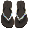 Mystique - Eugene - Black Color Crystal-embellished Flip Flops