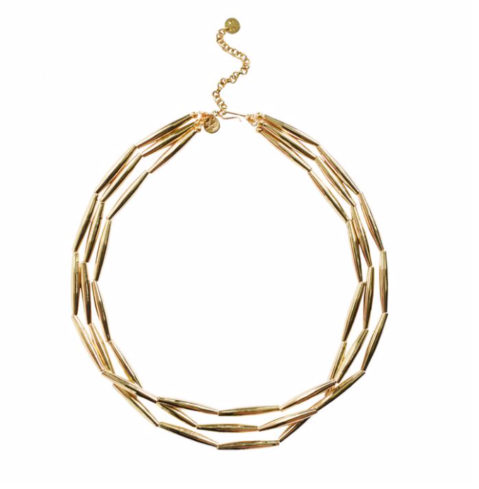 ADRIANA PAPPAS - Liquid Gold Necklace - Three Strand