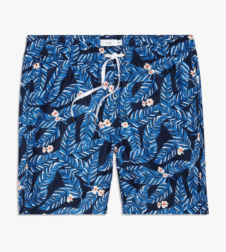 ONIA - CALDER TRUNKS 7.5 E - Hawaiian Floral - DEEP NAVY 494