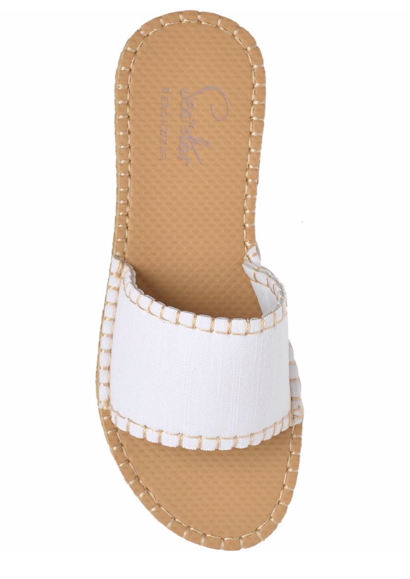 Sea Star Beachwear - Cabana Slide - White Denim