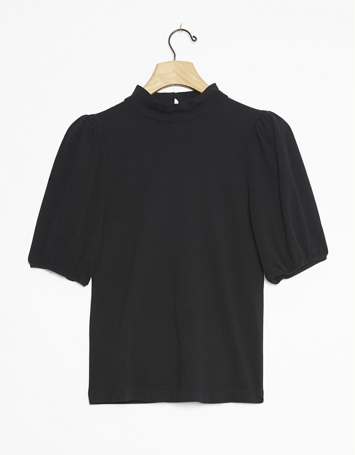 CITIZENS OF HUMANITY - Vivi Mock Neck Top- Black
