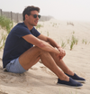 Men's Mariner Espadrille: Navy with White sole