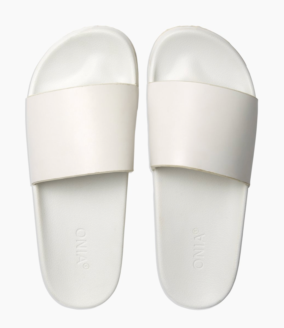 Onia - Men's Pool Slides - White