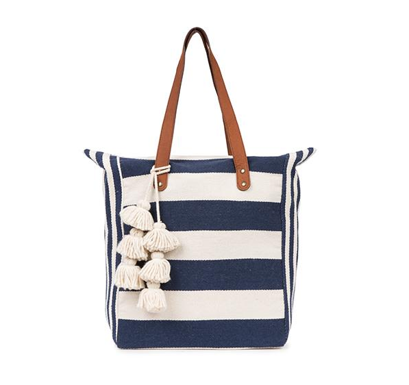 JADEtribe - Valerie Two Way Tote - Indigo/ White