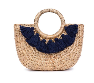 Mini Indigo 7 Tassel Basket
