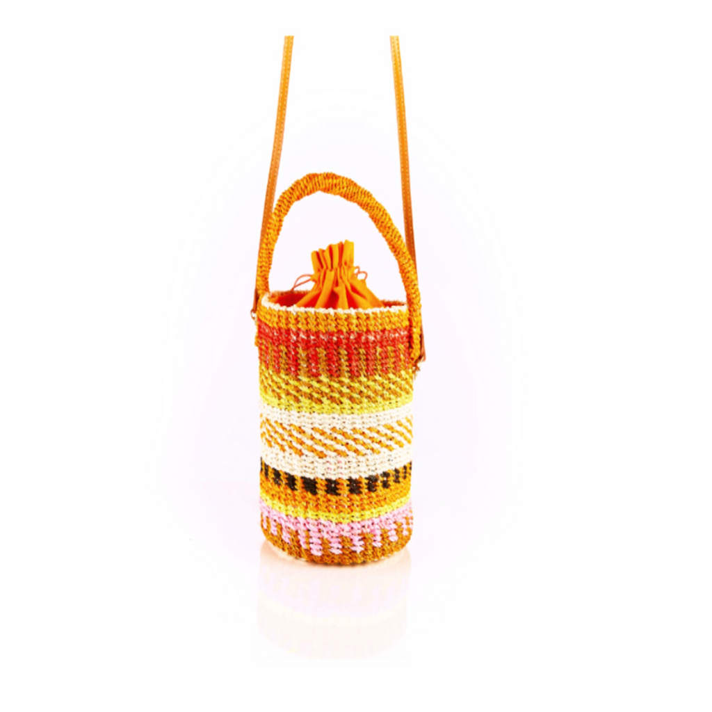 Donna Striped Bucket Bag