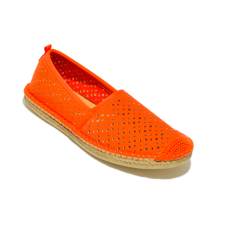 Women's Beachcomber Espadrille: Sea Star Orange Eyelet