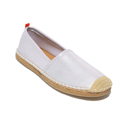 Women's Beachcomber Espadrille: Navy/White Mixed Stripe