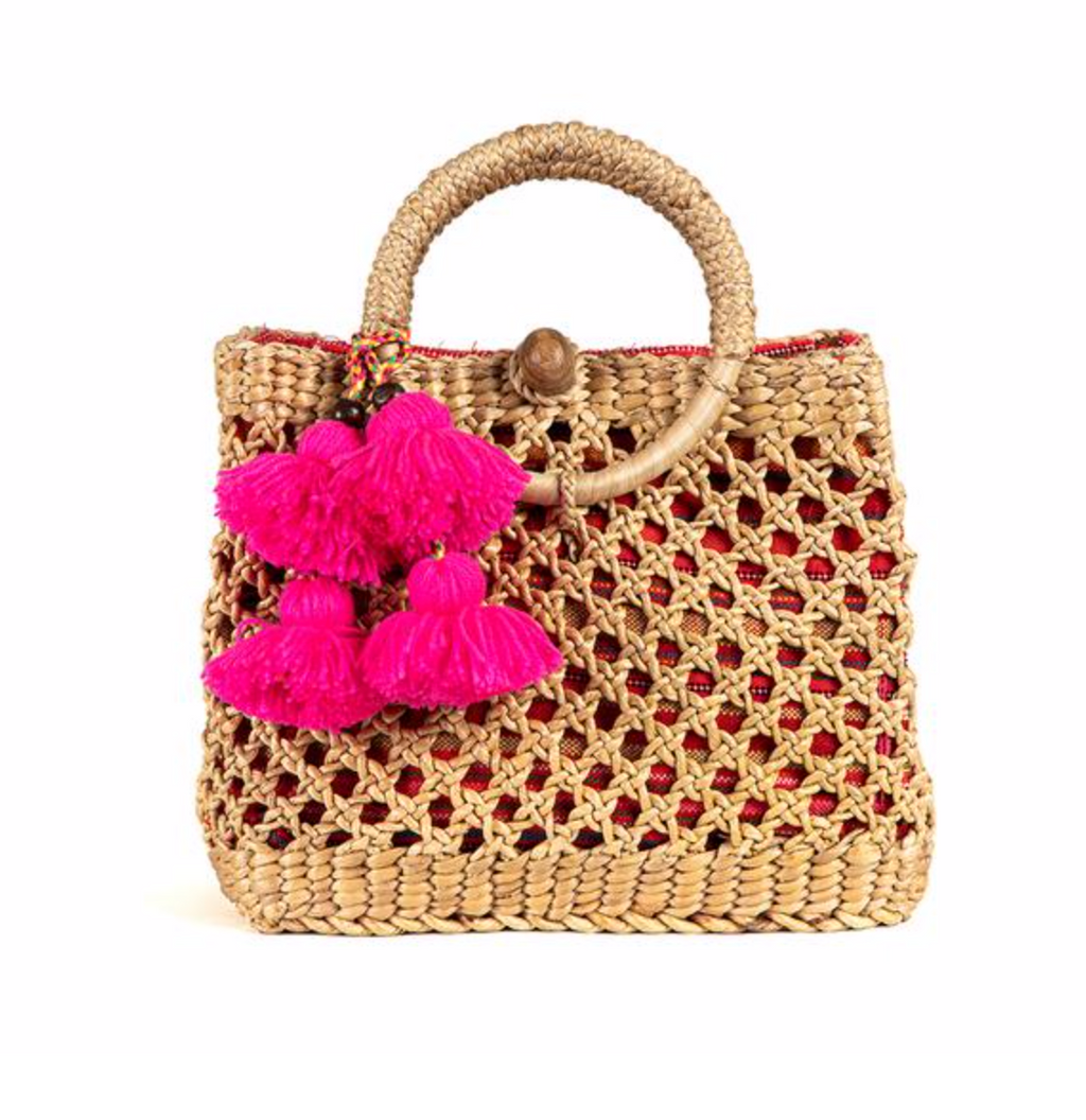 Koh Samui Mini Basket Pink - Jadetribe