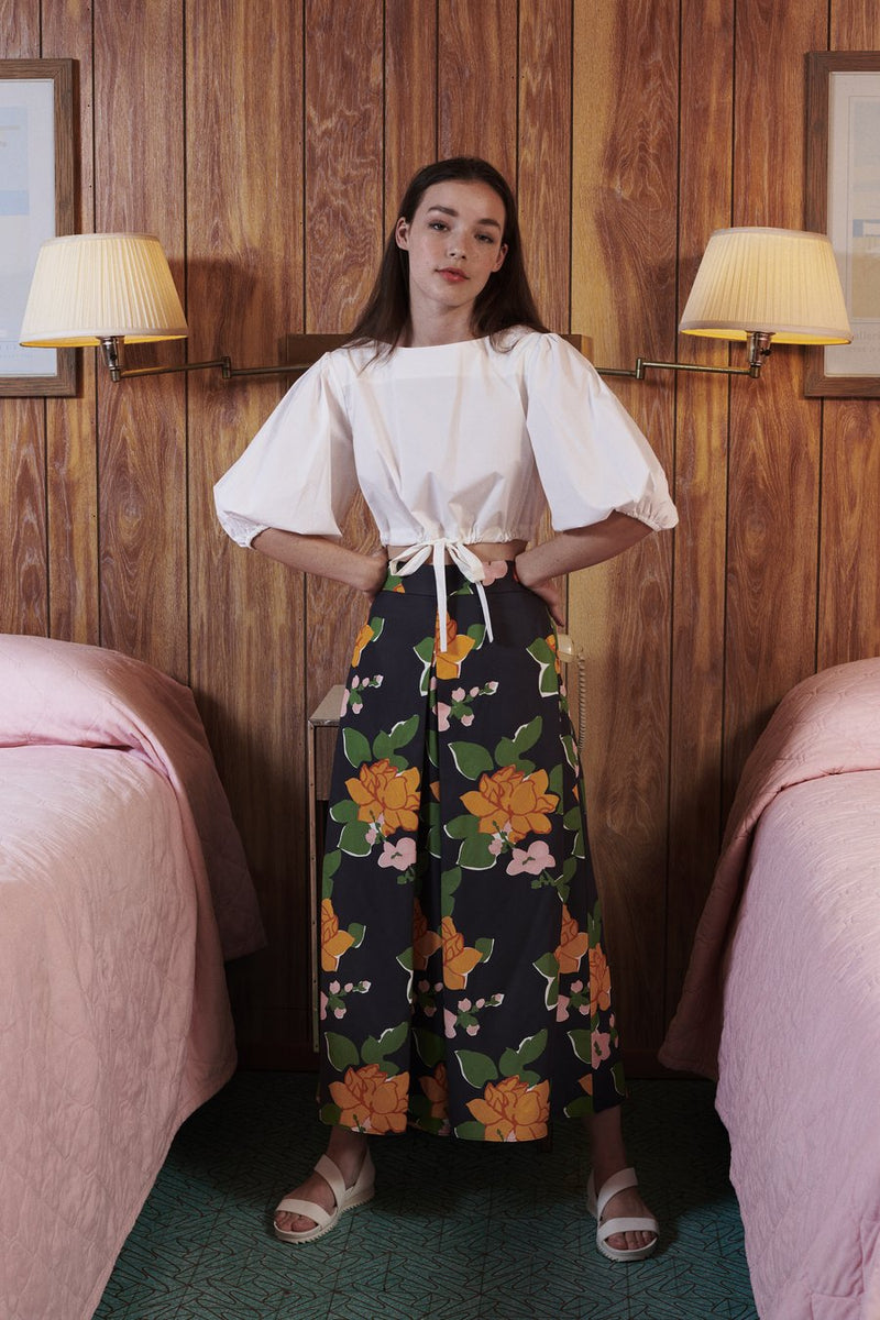 Whit NY Sun Pant in Navy Hermosa Floral