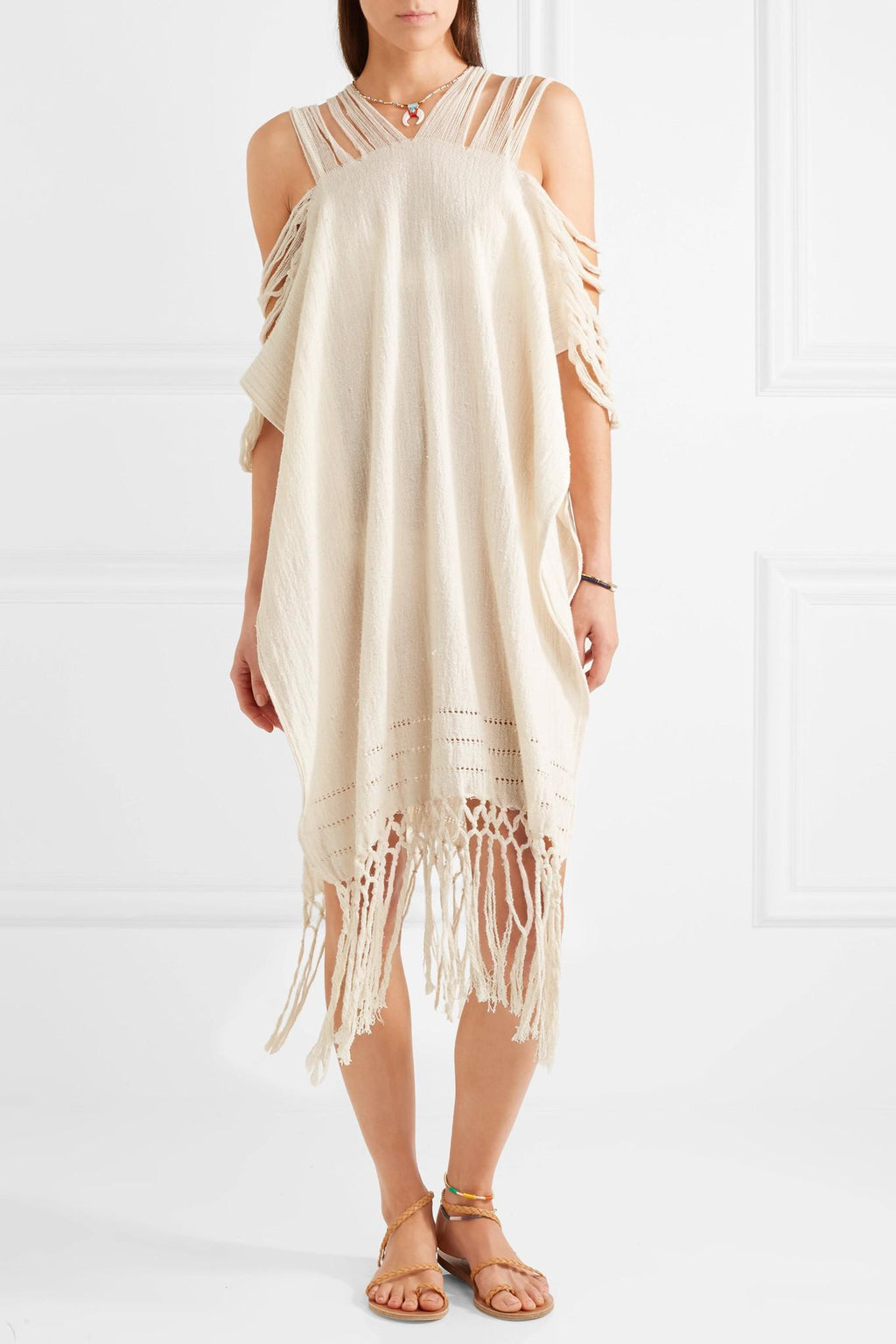 Scorpios Frayed Cotton Jute Dress