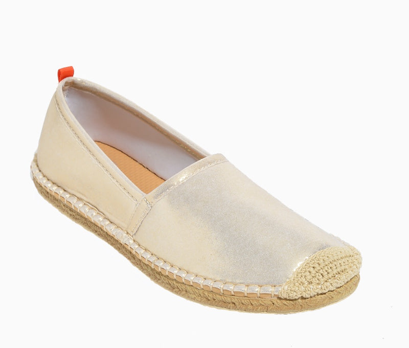 Women's Beachcomber Espadrille: White Gold