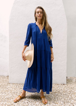 """Giselle"" Long Lapis Dress"