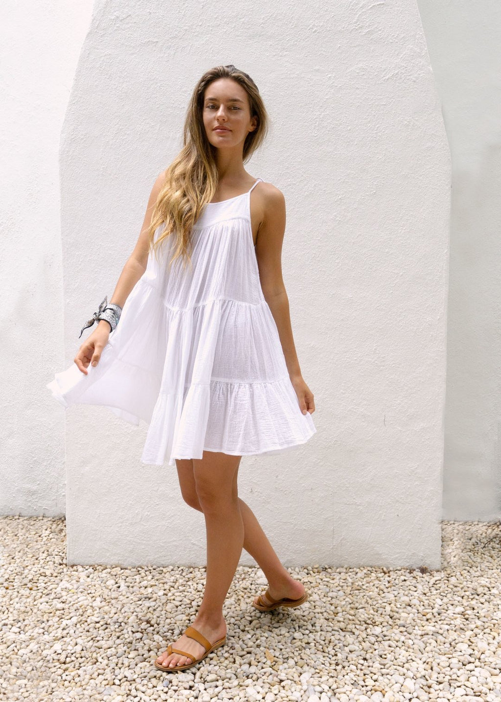 """Peri"" Short White Dress"