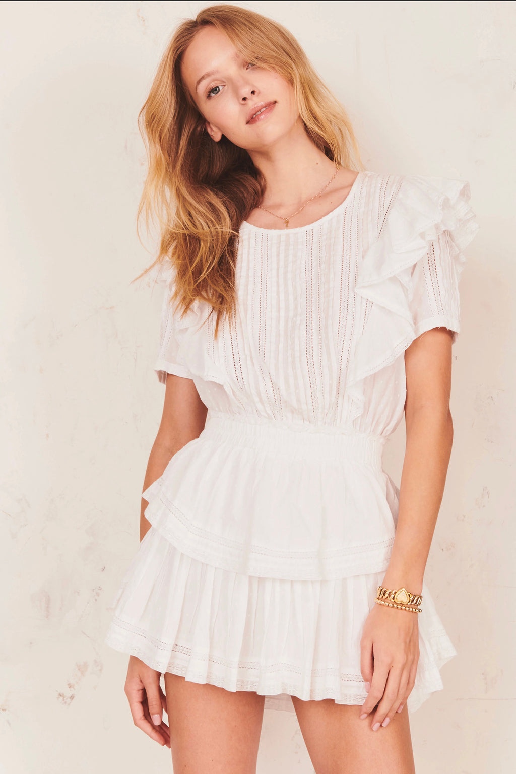 "Love Shack Fancy - ""Natasha"" Dress - White"