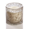 Medium 15oz Cylinder Candle Holiday Silver Metal Chip - Pomme de Pin