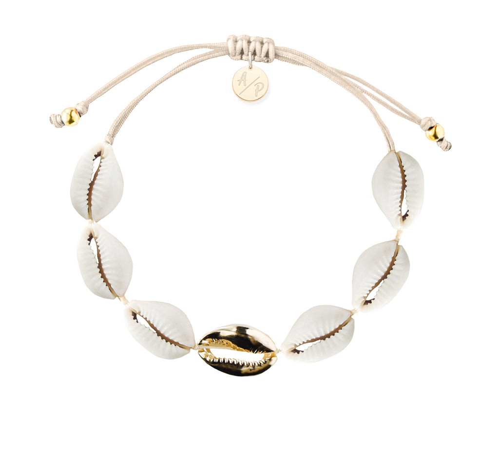 Single Gold Mini Shell Bracelet - Adriana Pappas